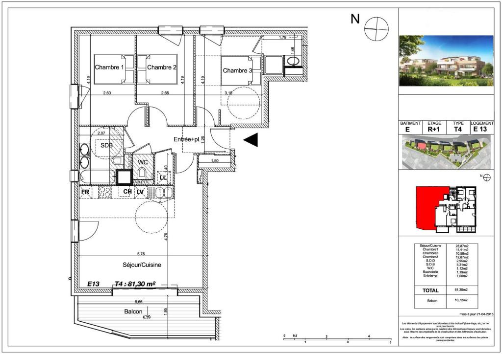 Acheter un t4 de 81m environ dans un petit complexe for Location garage gex
