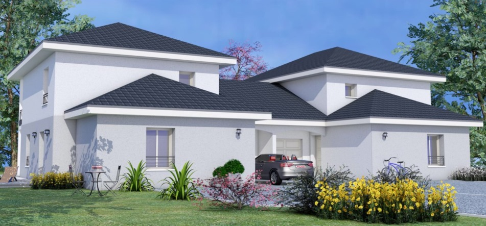 petit lotissement de 11 maisons neuves 120m en vente a echenevex 01170 projets immobiliers. Black Bedroom Furniture Sets. Home Design Ideas